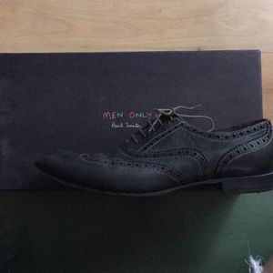 Grey Paul Smith wing-tip shoes